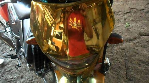 spray painting dirt bike plastics spray on chrome golden bike 1