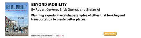 beyond mobility planning cities for and places books add to your planning library