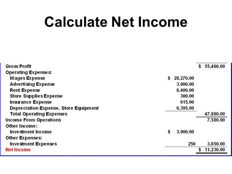 safe income calculation template work sheet and adjusting entries ppt