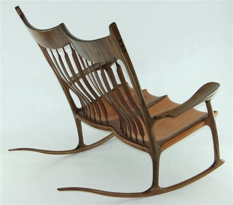 canadian woodworks rocking chair lacewood walnut by canadian