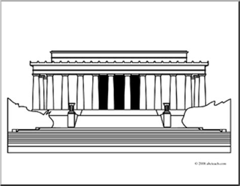 clip art lincoln memorial coloring page abcteach