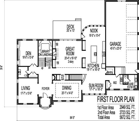 million dollar house floor plans 2 story 5 bedroom design