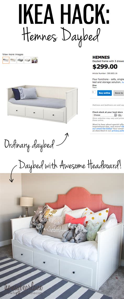 hemnes bed hack hemnes daybed ikea hack honeybear lane