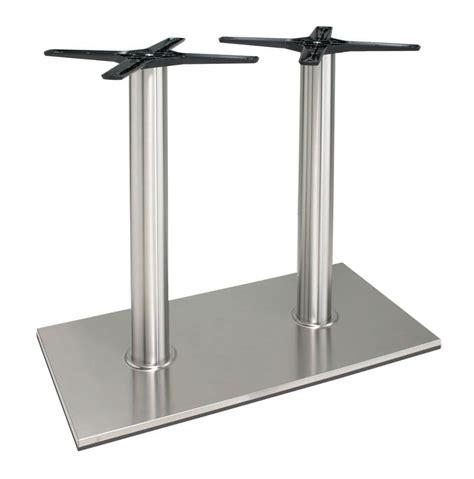 base tavolo base in alluminio per tavolo con doppia colonna idfdesign