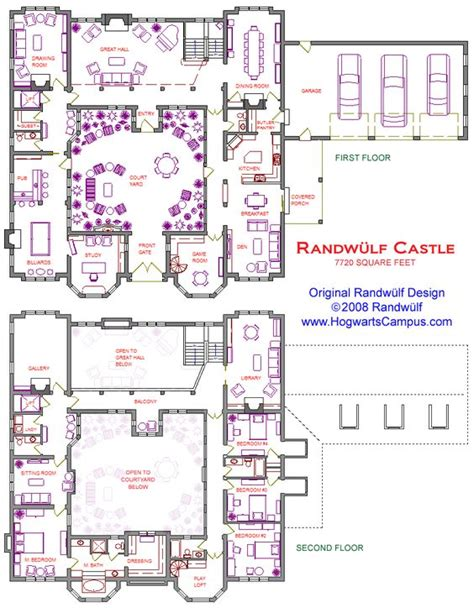 peles castle floor plan 2 story castle with courtyard dream house pinterest