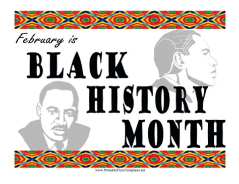 Black History Month Flyer Black History Month Poster Template