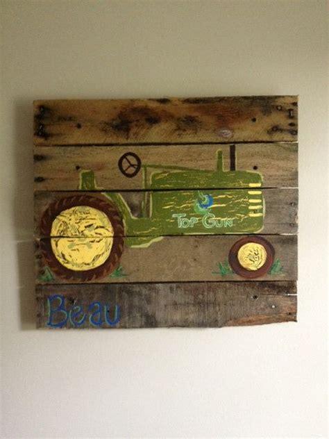 tractor room tractor boys rustic wall tractor farm barn bedroom home decor boys room wood pallet