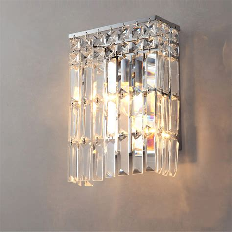 crystal wall mount lighting aliexpress com buy l crystal led modern wall mirror