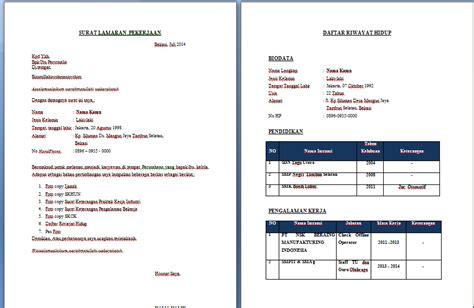format depan lop lamaran kerja contoh surat lamaran kerja aneka info aneka resep