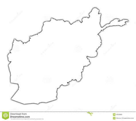 Afghanistan Pakistan Map Outline by Afghanistan Map Outline Vector