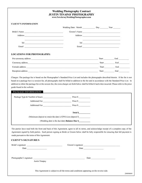 wedding photography contract template efficient visualize cp