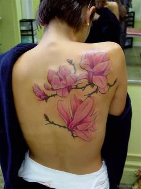 magnolia tattoo 54 great magnolia tattoos for back