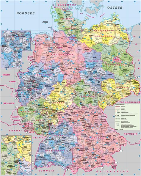 map of germany large detailed administrative map of germany with roads