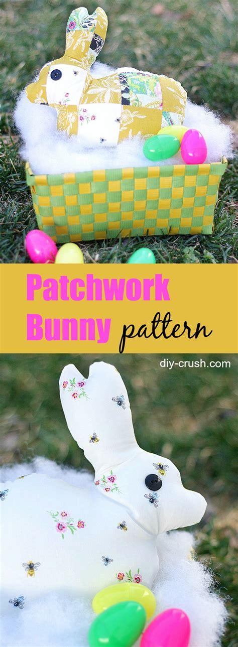 Patchwork Rabbit Pattern - patchwork rabbit pattern diy crush