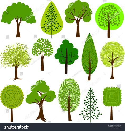 different types of trees stock vector art 635949946 istock tree clip art 2 stock vector illustration 195743897