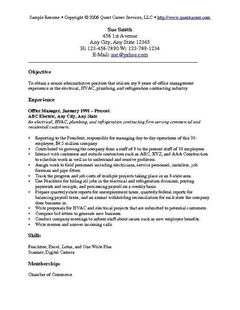Resume Objective For It by Resume Objective Exles Resume Cv
