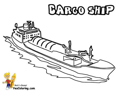 how to draw a cargo boat free coloring pages of ship drawings