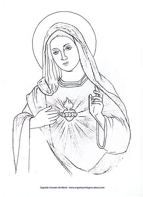 imagenes de la virgen maria para pintar virgen mar 205 a la virgen maria para dibujar imagui