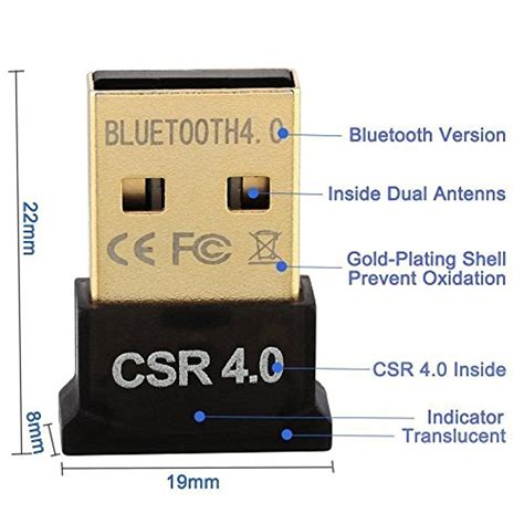 Usb Bluetooth Dongle 4 0 Receiver Golden Plated warmstor bluetooth adapter csr 4 0 usb dongle bluetooth