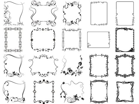 decorazioni cornici cornici decorative decorative frames vettoriali gratis