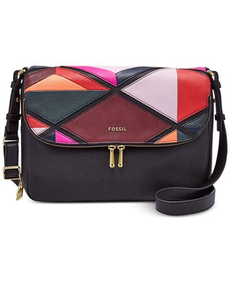 Fossil Patchwork Bag - fossil patchwork flap shoulder bag lyst