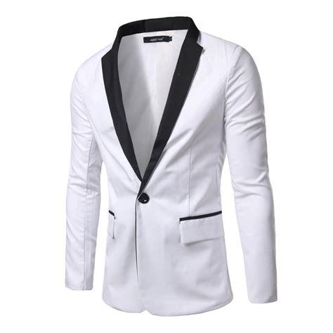 Button Veste Blazer Vest Jaket Outer Wanita White 2016 brand clothing white blazer casual slim fit sleeve single button blazers jacket