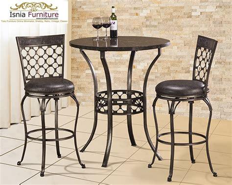 Satu Set Meja Kursi Bambu set meja kursi bar besi vintage model kursi cafe dan