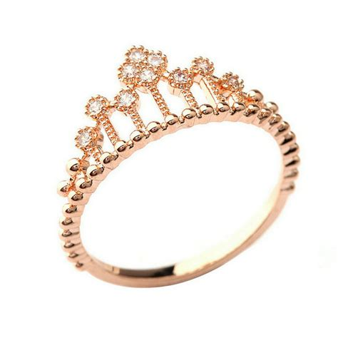 pandora gold princess ring
