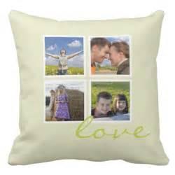 custom photo frame throw pillows collage zazzle