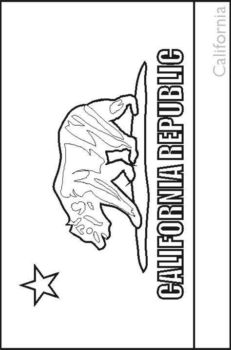 california state flag coloring pages usa for kids
