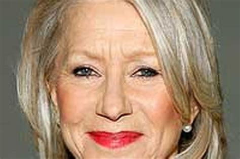 67 year old female face helen mirren looking like a fiona phillips mirror