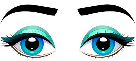clip eye blue clipart clipground