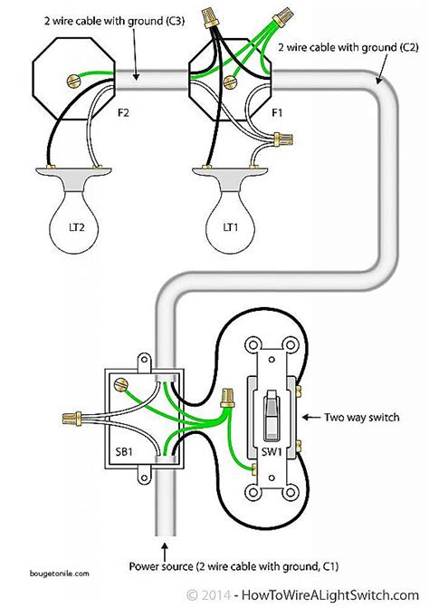 2 lights one switch diagram wiring diagram with description