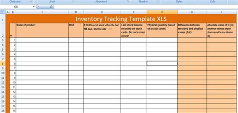 Free Excel Inventory Tracking Template Xls Free Excel Spreadsheets And Templates Inventory Tracking Excel Template