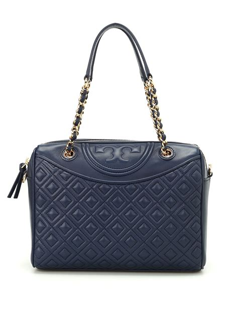 Original Burch Fleming Open Shoulder Bag fleming quilted leather bowling bag by burch