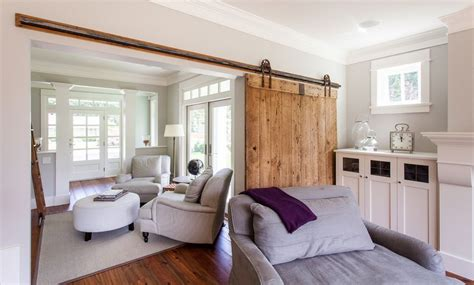 Living Room Sliding Doors Interior 50 Ways To Use Interior Sliding Barn Doors In Your Home