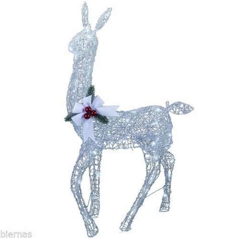 menards christmas horse outside decor 42 quot silver doe reindeer led lighted outdoor lawn decoration