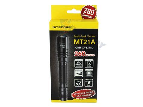 Nitecore Mt21a Senter Led Cree Xp E2 260 Lumens nitecore multitask mt21a ultra range flashlight cree xp e2 r2 led 260 lumens uses 2 x aas