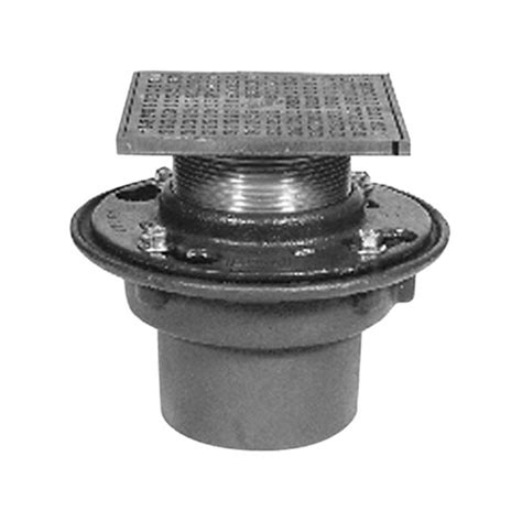 10 In Floor Drains Cover Zurn - zurn zb415 10 inch type s strainer floor drain with cast