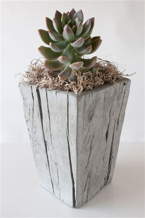 unique indoor planters cast wood planter small contemporary indoor pots and planters other metro by nativecast