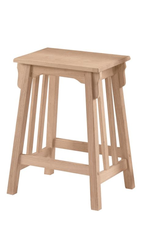 Mission Bar Stools Unfinished by Unfinished Mission Stool Built Wws324b 24
