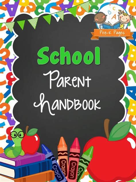 parent handbook template 46 best school print materials images on