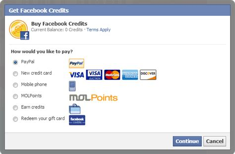 Redeem Facebook Gift Card Codes - what are facebook credit s what they are used for