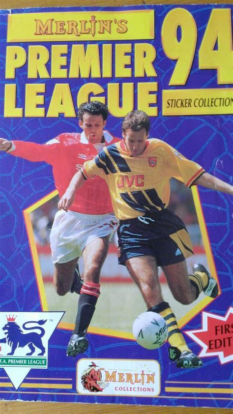 Premier League Sticker Book 1994 merlin 1994 premier league sticker collection the