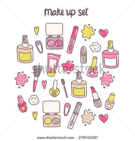 makeup cartoon wallpaper cute cartoon hand drawn makeup kit stock vector 278740397