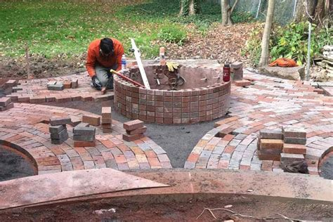 Diy Brick Firepit Diy Brick Pit Make Your Own Pit At Home Fireplace Design Ideas