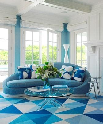 blue decorations by the american interior designer anthony