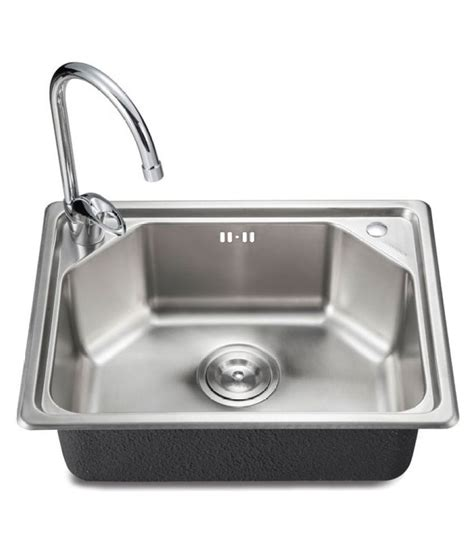 How To Buy A Stainless Steel Kitchen Sink Buy Pearl Stainless Steel Kitchen Sink With Coupling At Low Price In India Snapdeal