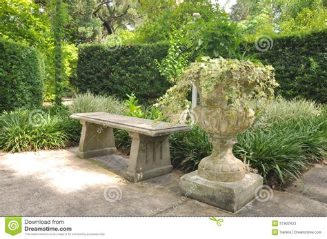libro the cement garden vintage garden bench stock photo image 51902423