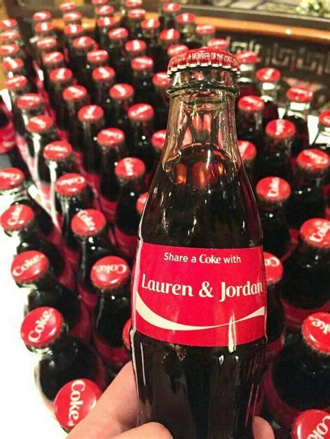 Personalized Coca Cola bottles as wedding favors